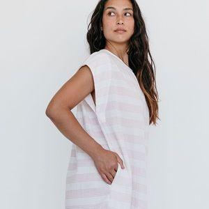 NWT Suunday Cocoon Dress Spanish Villa Stripe XS
